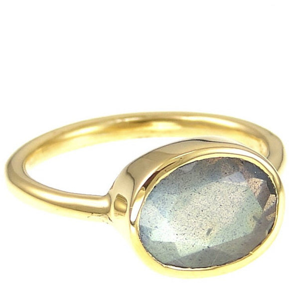 Claire Labradorite Updated Oval Ring