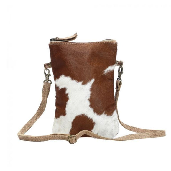 Lara Brown White Cowhide Crossbody Handbag-Fig Tree Jewelry & Accessories