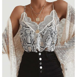 Lexi Print Lace Lovestitch Cami-Fig Tree Jewelry & Accessories