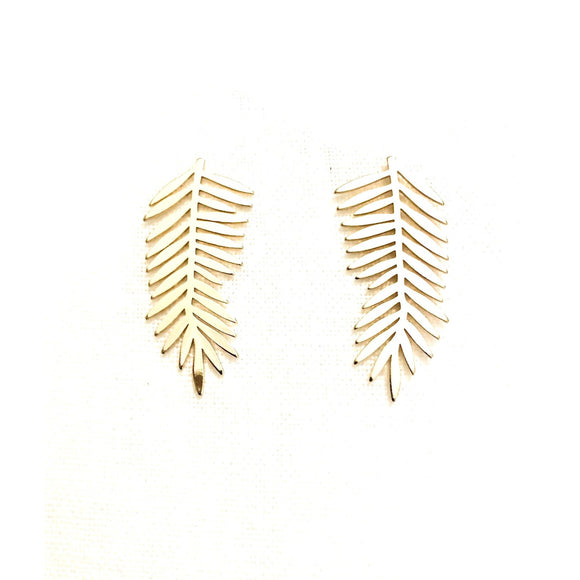 Milana Gold Leaf Earrings-Fig Tree Jewelry & Accessories