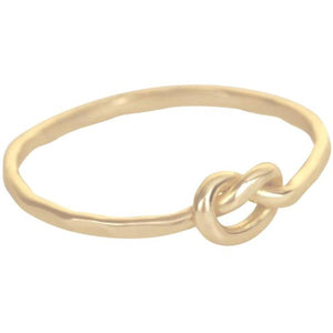 Love Knotted Gold Ring