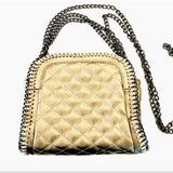 Stella Metallic Bronze Crossbody Chain Handbag