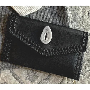 Ariana Agate Black Braided Detail Clutch-Fig Tree Jewelry & Accessories