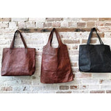 Caris Leather Hobo Handbag