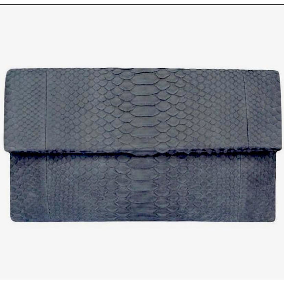 Bria Grey Clutch Handbag
