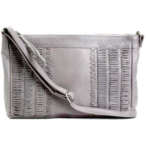 Flame Grey Detailed Stitched  Crossbody Handbag