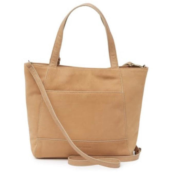 Lucky Don Leather Light Tan Tote Handbag