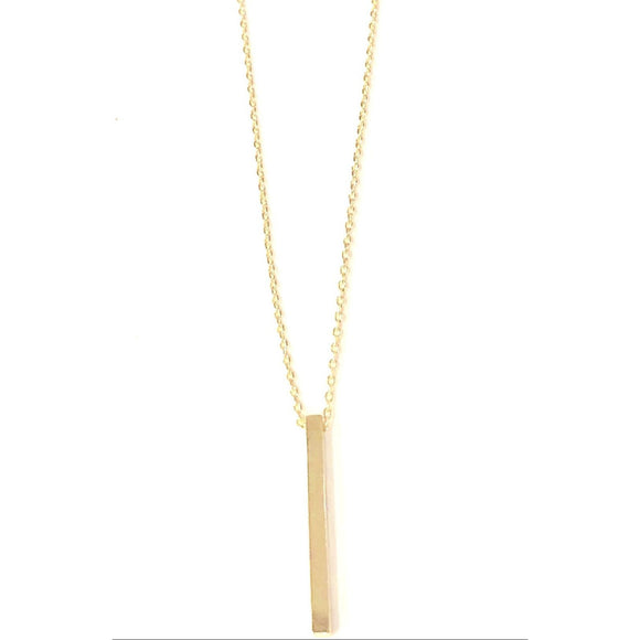 Avia Square Long Gold Pendant