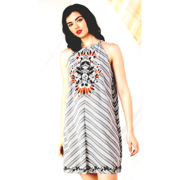 Arizona THML Halter Dress srt0163-bl