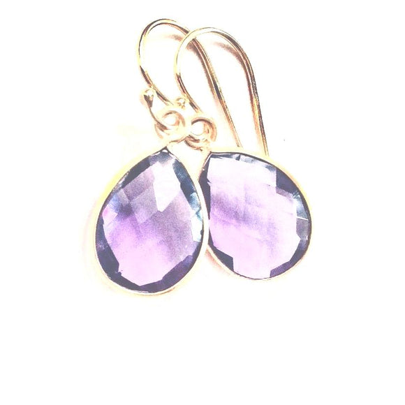 Andi Amethyst Drop Earrings