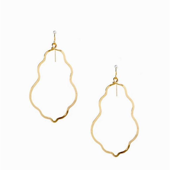 Bella Hammered Gold Swirl Earrings