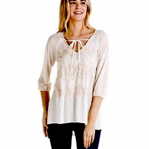 Penny Pointelle Knit Mystree Top