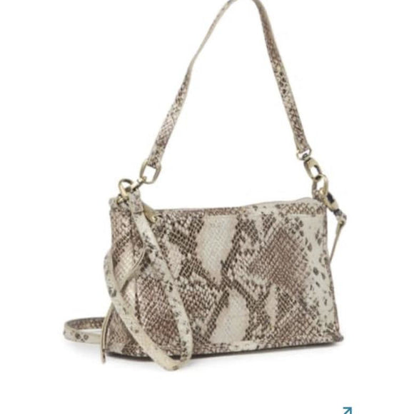 Hobo Snake Print Crossbody Handbag