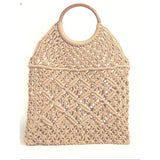 IMOSHION  Crochet Woven Handle Bag