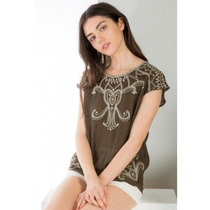 Ariana THML Brown Top tm4639