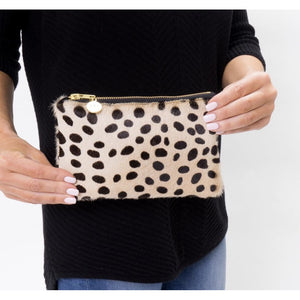 Lyn Mini Dalmatian Cowhide Clutch
