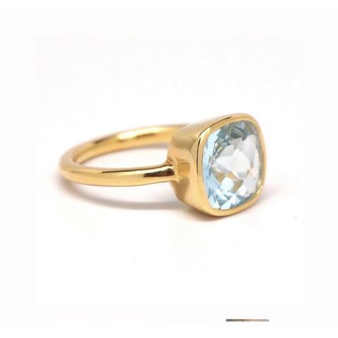 Claire Blue Aqua Quartz Ring