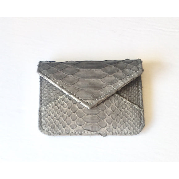 Bria Real Python Card Holder-Fig Tree Jewelry & Accessories