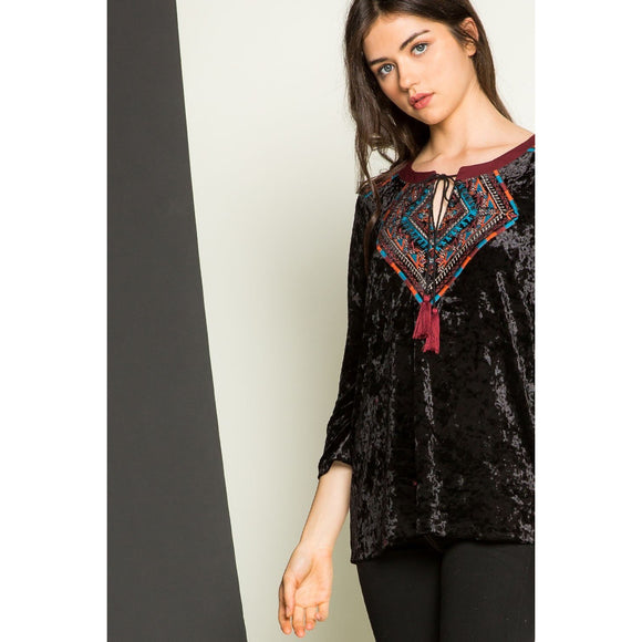 Zila THML Velvet Long Sleeve jh300-Fig Tree Jewelry & Accessories