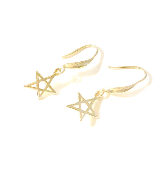 Lauren Star Dangle Gold Earrings