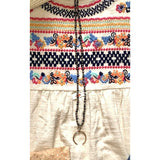 Abley Pendant Beaded Long Necklace