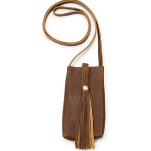 Catherine B Brown Tassel Phone Purse
