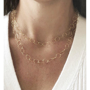 Bella Smaller Circle Chain Necklace-Fig Tree Jewelry & Accessories