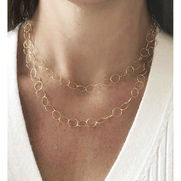 Bella Smaller Circle Chain Necklace