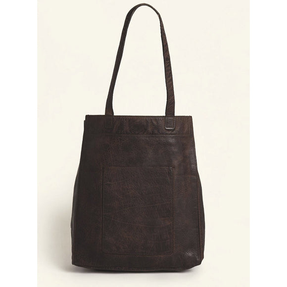Latico Chloe Dark Brown Small Tote Handbag