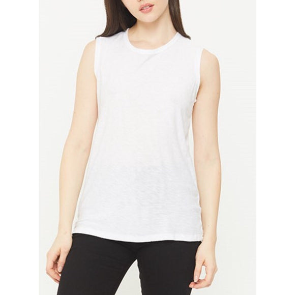 Malibu White Muscle Tank Top by Comune C19T108