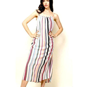 Amelia THML Striped Midi Maxi Dress JH1364-1