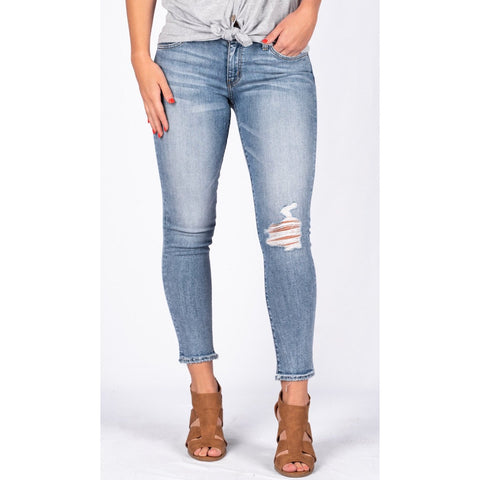 Flying Monkey Scratched Light Denim Jean
