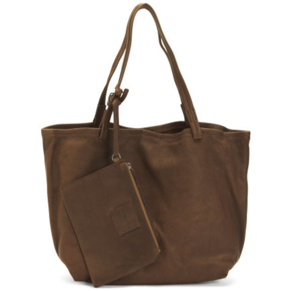 Latico Chloe Soft Dark Brown Tote Handbag