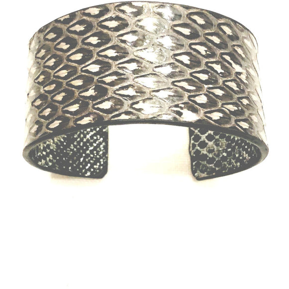 Abria Grey Thick Snake Bracelet-Fig Tree Jewelry & Accessories