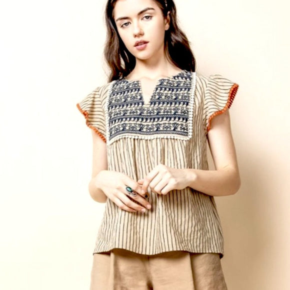 Dora THML Striped Top TM5004