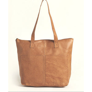 Latico Chloe Med Brown Tote Handbag