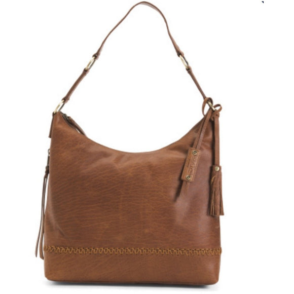 Chloe Diba True Brown Leather Tassel  Handbag