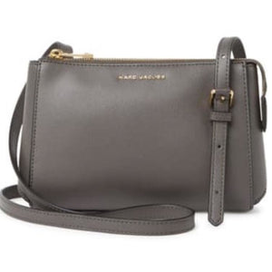 Marc Jacobs Leather Grey Crossbody Handbag