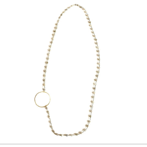 Channing Side Circle Necklace