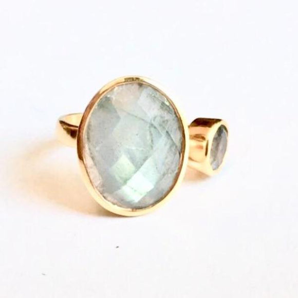 Amia Gold Labradorite MS Double Ring