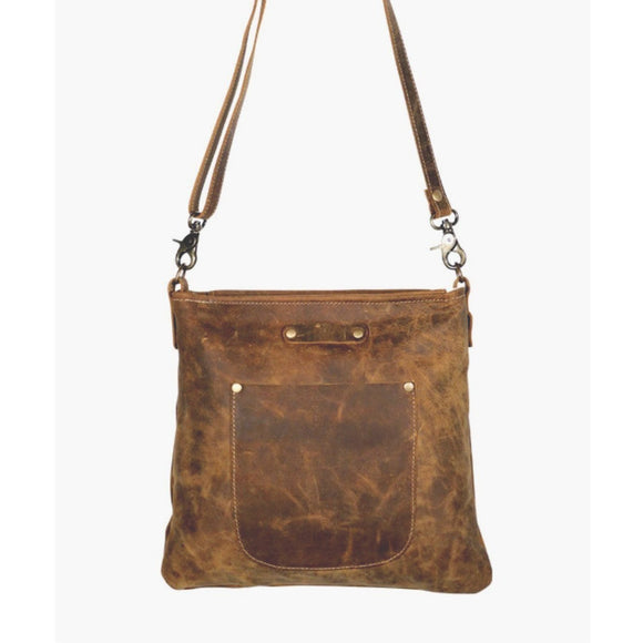 Molly Leather Outside Pocket Crossbody