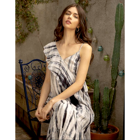 Ablita THML Tie Dye Maxi Slit Dress