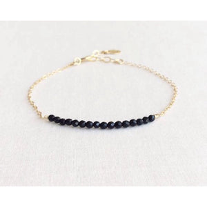 Addie Black Onyx Beaded Bracelet
