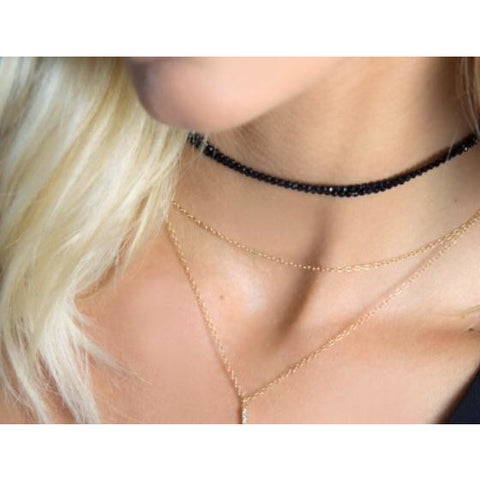 Lauren Black Spinel Choker