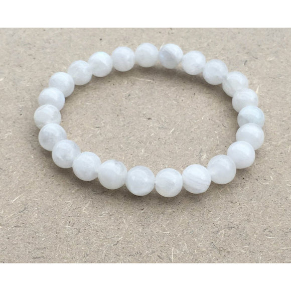 Lila Moonstone Stacking Beaded Bracelet