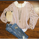 Alyssa Lovestitch Large Striped Top