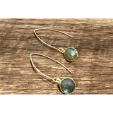 Turin Labradorite Loop Thru Bezeled Earrings
