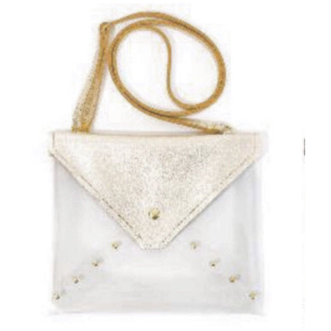 Brena B Game Time Clear Gold Shimmer Crossbody