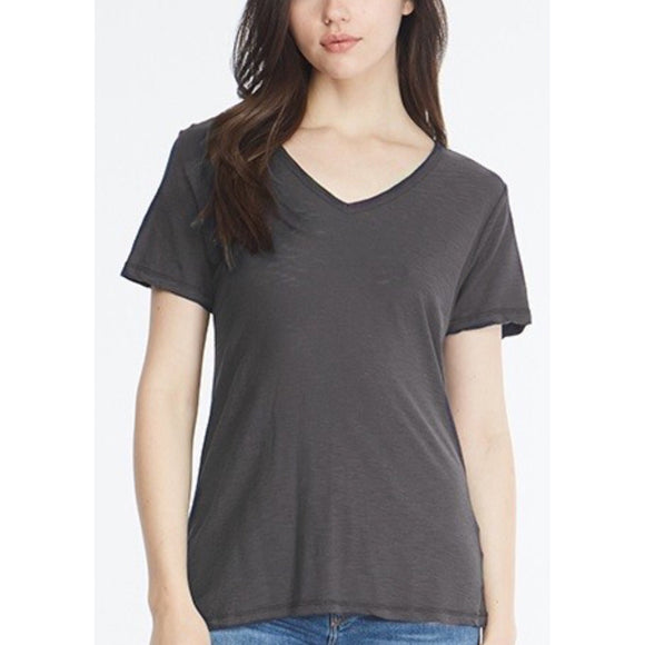Malibu Charcoal V Neck T-Shirt by Comune C19X97-Fig Tree Jewelry & Accessories