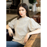 Abby Printed Short Sleeve THML Top